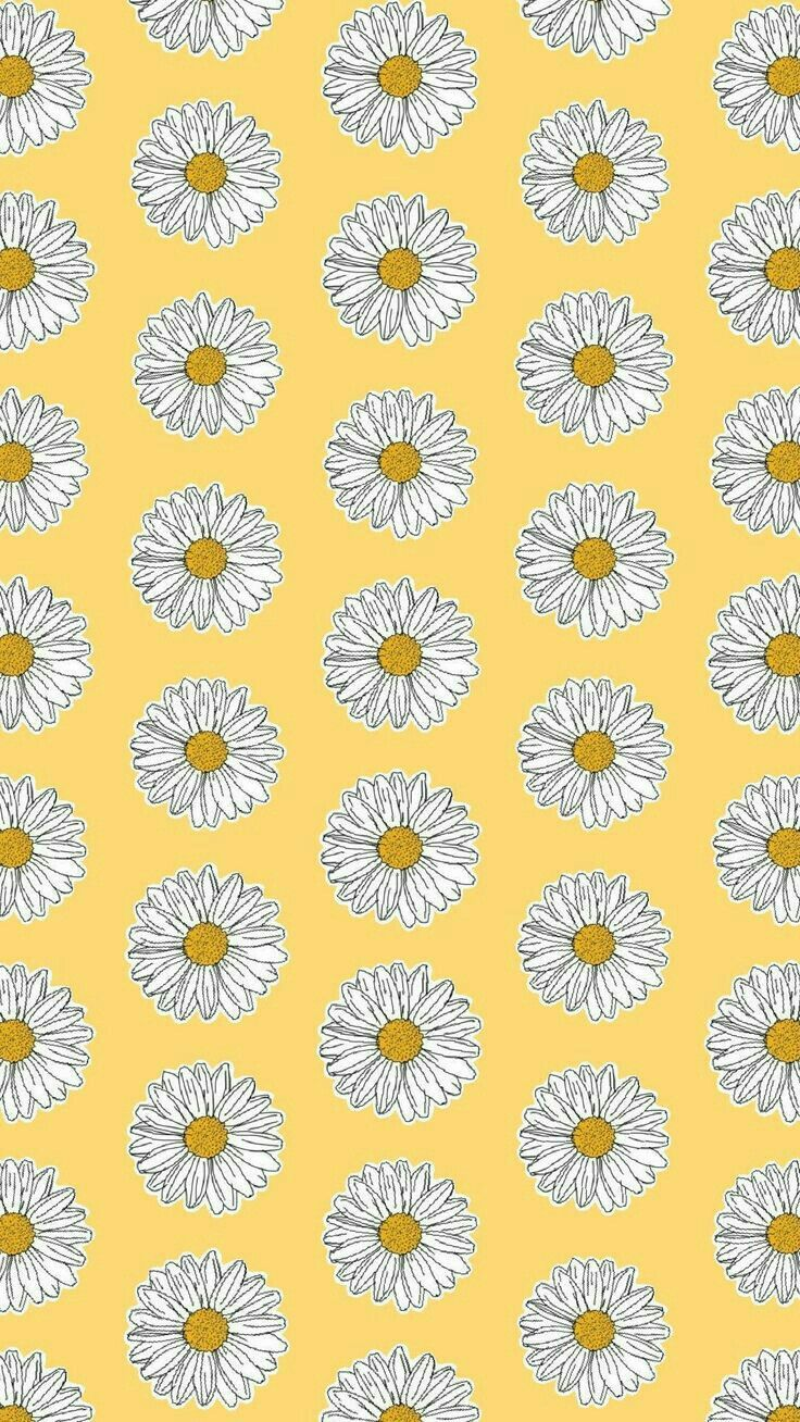 Yellow background with daisies Pop art wallpaper, Iphone