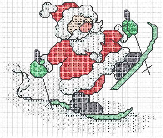 Babbo Natale Punto Croce.Schemi Punto Croce Vari Schemi Babbo Natale Punto Croce Punto Croce Punto Croce Natalizio Motivi Punto Croce