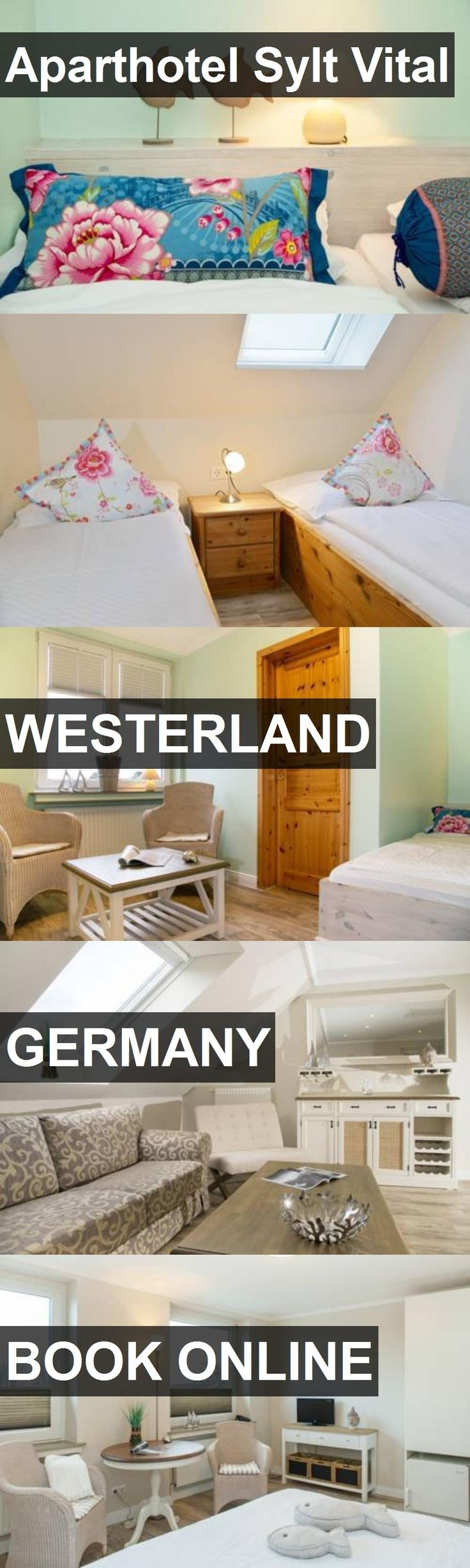 Aparthotel Sylt Vital in Westerland, Germany. For more information, photos, reviews and best prices please follow the link. #Germany #Westerland #travel #vacation #hotel