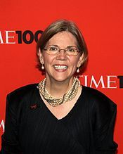 "Elizabeth Warren - ""Americans are fighters. We're tough, resourceful and creative, and if we have the chance to fight on a level playing field, where everyone pays a fair share and everyone has a real shot, then no one - no one can stop us."""