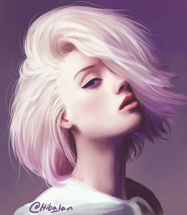Арт девушки картинки с белыми волосами