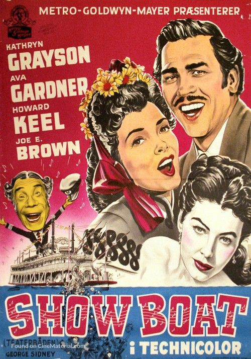 Show Boat Danish movie poster