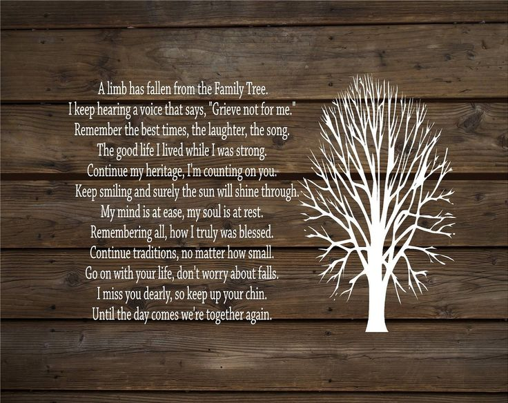 A Limb Has Fallen From Our Family Tree Wood Sign or Canvas Wall Decor - Sympathy Gift, Christmas Gift, Family, Parent Memorial,