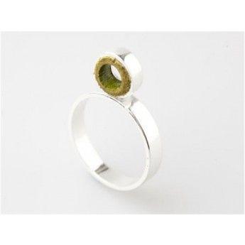 Anillos de plata de diseño: Anillo Verde de Plata y Cuero Rita Demiim http://www.tutunca.es/anillo-verde-de-plata-y-cuero-rita-demiim