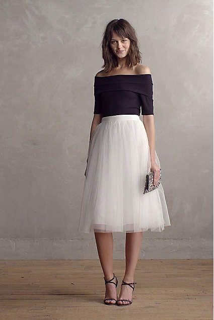 cool Jupon en tulle : Tulle Midi Skirt