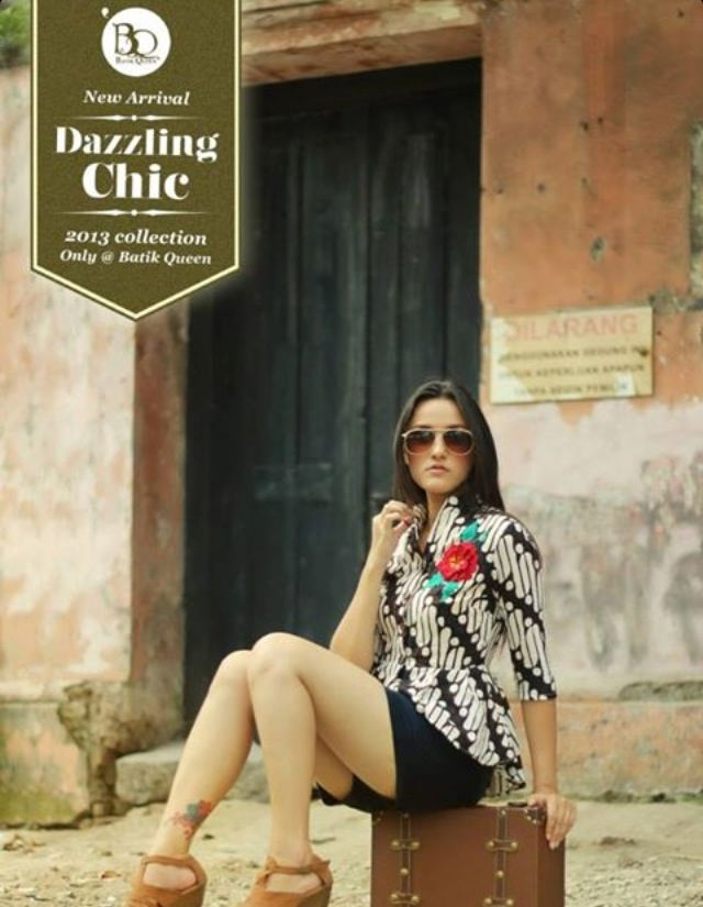 Batik Queen's apparel collections Batik Parang Blazer with embroidery