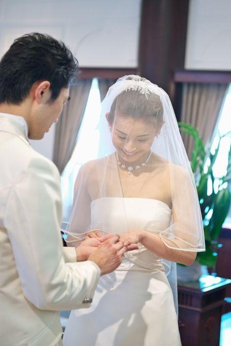 【福岡県久留米市 ホテルニュープラザKURUME・ウェディング】指輪の交換・幸せそう