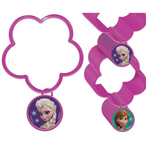 Anna and Elsa want to be a part of your birthday party celebration with these fun charm bracelet party favors. Includes 1 plastic Frozen charm bracelets.
