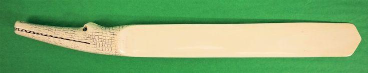 Paris Croc Ivory Letter Opener w/ Emerald Eyes