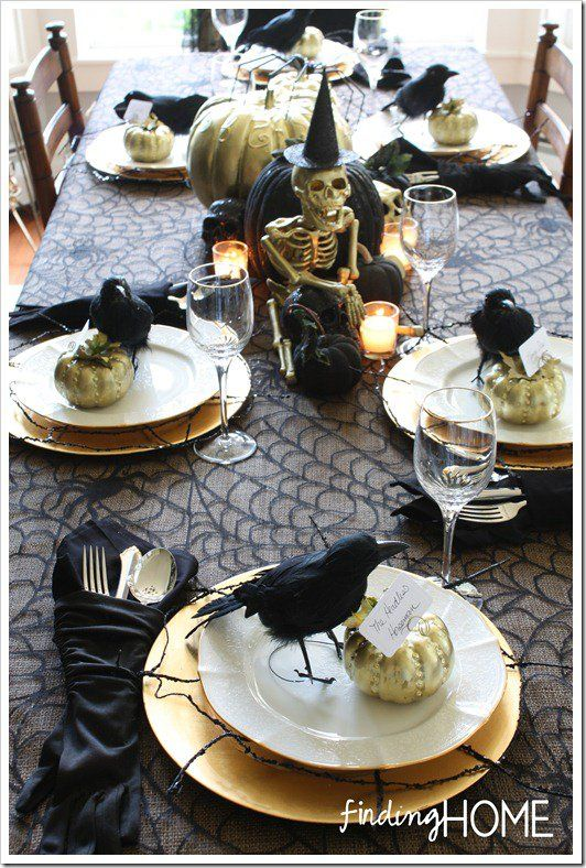 Best 10 halloween table decorations ideas on pinterest for Halloween table centerpiece ideas