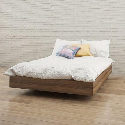 345431 Alibi Full Size Platform Bed (Walnut) - Click to enlarge