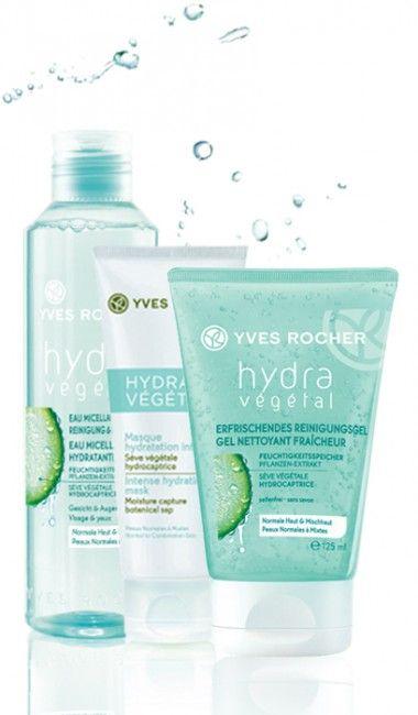 Prodotti per idratare la pelle del viso: Acqua micellare, prezzo: 7.95euro; Maschera idratazione intensa, prezzo: 9.95euro; Gommage idratante luminosità e freschezza, prezzo: 7.95euro.