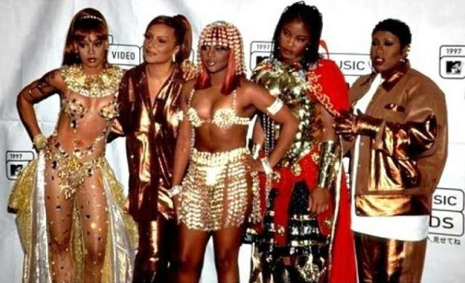 Female Rapper Women of Hip Hop Unity Angie Martinez, Lil Kim, Lisa Left Eye Lopes, Da Brat & Missy Elliott - Ladies Night