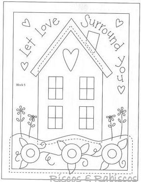 """""""let love surround you"""" cottage pattern"""