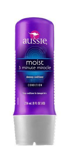 Aussie Deeeeep 3 Minute Miracle, é um creme de condicionamento profundo e instantâneo de uma marca australiana (a base de suco da folha aloe vera, óleo de semente de jojoba e algas marinhas do mar da Australia). $49