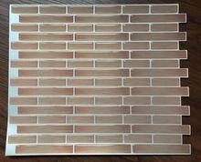 Wooden backsplash, self adhesive wall tile sticker