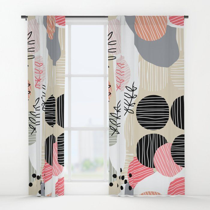 Mid Modern Nature 2 4 Window Curtains