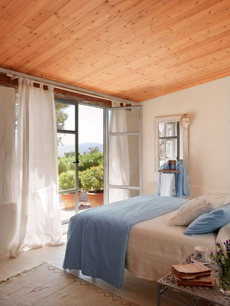 Quarto com porta exterior: Field, Decor Ideas, House, El Mueble, Porta Exterior, Rooms Dark-Blue, My House