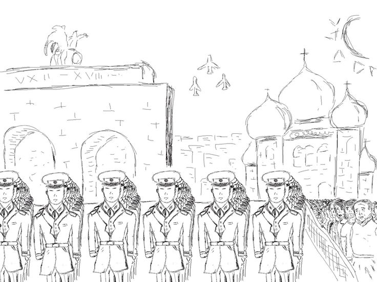 Storyboard sketch. First frame. Author: Oleg Petrenko