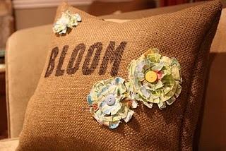burlap pillow project