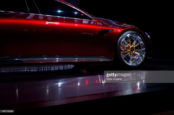 The Mercedes-Benz AG AMG GT concept car is displayed at the New York International Auto Show, April 12, 2017 at the Jacob K. Javits Convention Center in New York City. The New York International Auto Show will open to the public starting Friday April 14 and run through April 23.