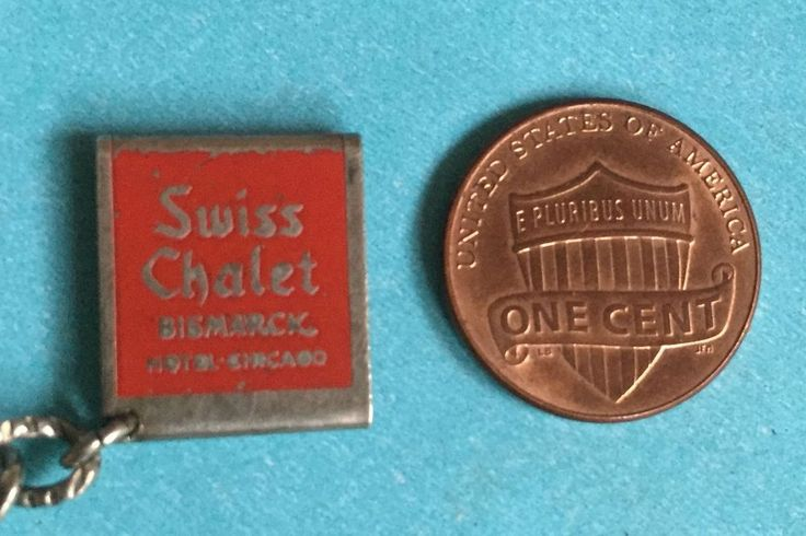 vintage sterling enamel Bismarck hotel Swiss Chalet diner Chicago rare charm