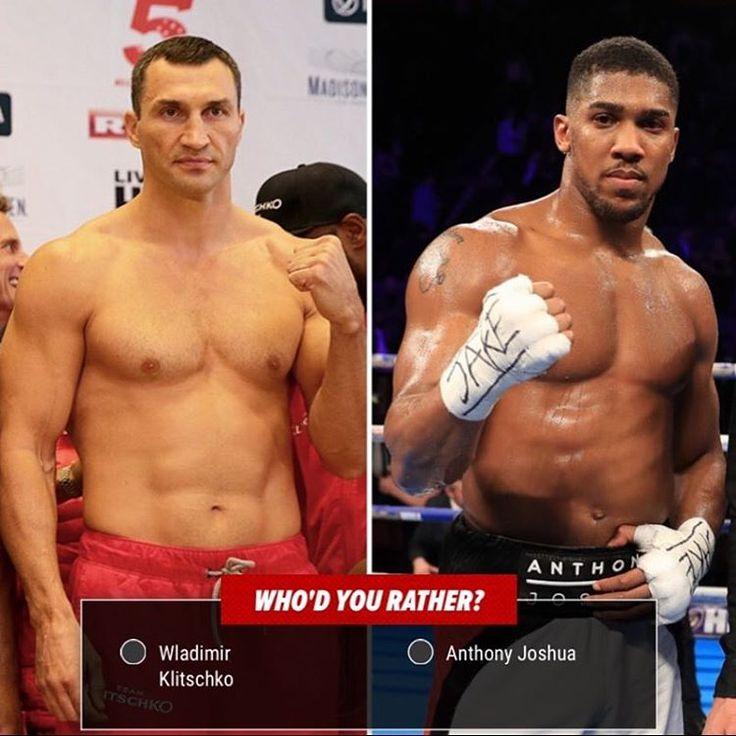 Who'd You Rather: Knockout Edition! Wladimir Klitschko vs Anthony Joshua 👊 #wladimirklitschko #anthonyjoshua #boxing #showtime #tmzsports