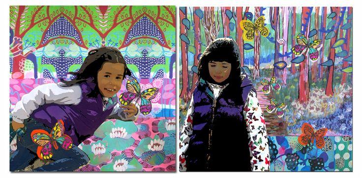retratos para dos hermanas