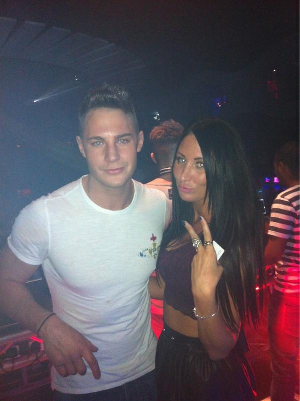One of our VIP Hostesses with Scott from Geordie Shore. Fuzzy Logic Mondays at Oceana Watford
