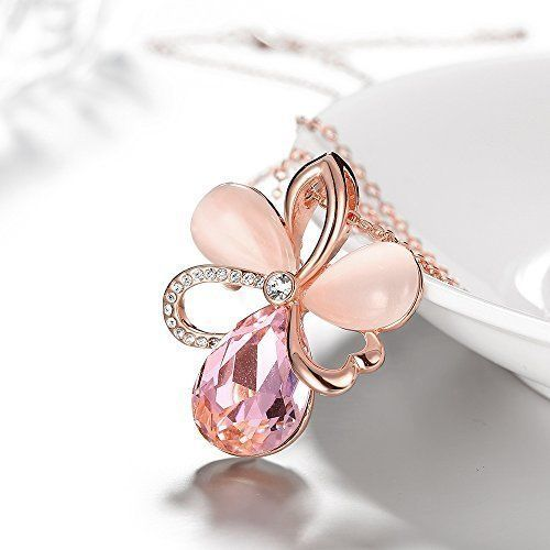 Mothers Day Gifts Gift For Mother Mom Necklace Pendant Crystal Rose Gold NEW #Shanna