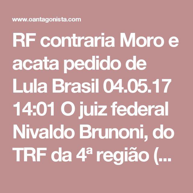 """RF contraria Moro e acata pedido de Lula  Brasil 04.05.17 14:01 O juiz federal Nivaldo Brunoni, do TRF da 4ª região (Porto Alegre), acatou uma liminar dos advogados de Lula e dispensou o ex-presidente de comparecer ao depoimento das 87 testemunhas convocadas pela defesa no processo do triplex. Brunoni definiu como facultativa a presença do petista. """"Não parece razoável exigir-se a presença do réu em todas as audiências de oitiva das testemunhas arroladas pela própria defesa, sendo assegurada…"""
