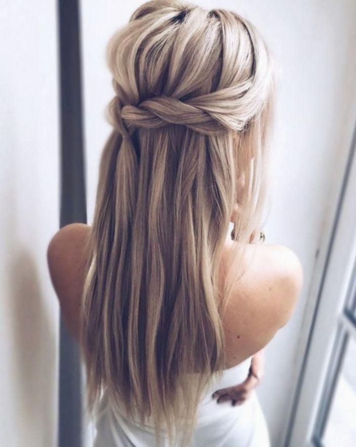 12 Hairstyles Wedding Braided Half Up Long Hair Styles Braided Hairstyles For Wedding Long Straight Hair