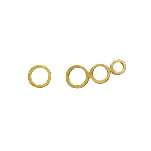 Zöl, Asymmetric Circles Øreringe, Guld