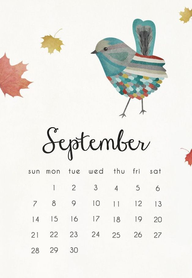 Cute Fall Computer Wallpaper September 2018 Calendar Mobile Wallpaper 2018 Calendars