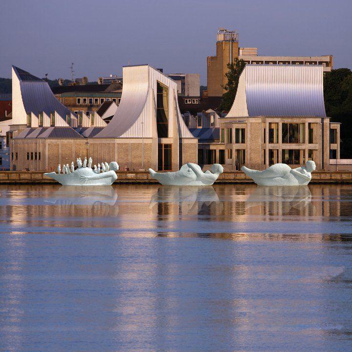 Water Skulpture Utzon Center , Aalborg