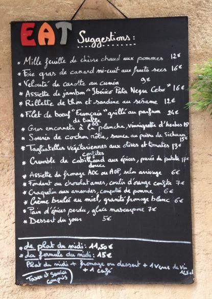 Bon Plan à Avignon - Une très belle adresse : Le Restaurant EAT du déjeuner au dîner. Surtout réservez !