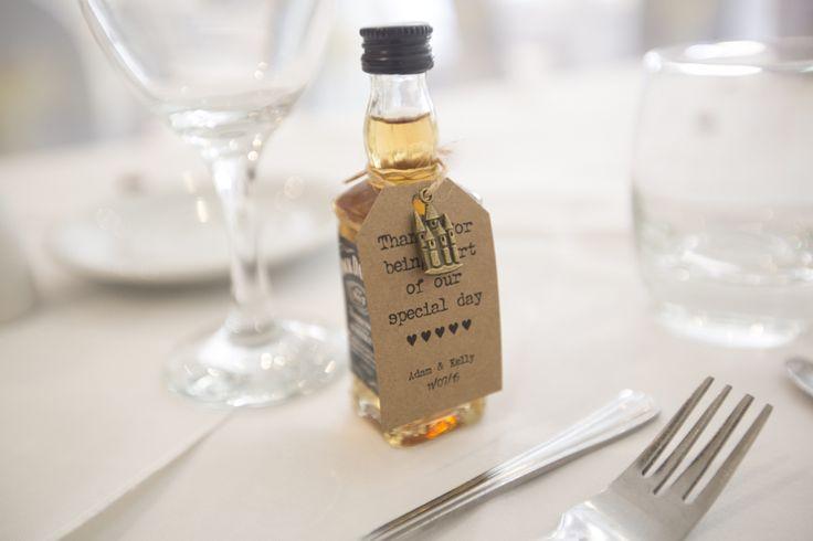Miniature whiskey men's favours weddings jack Daniels thank you  Wedding  Favour