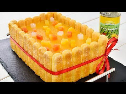 Tort diplomat cu fructe tropicale (CC Eng Sub) | JamilaCuisine - YouTube