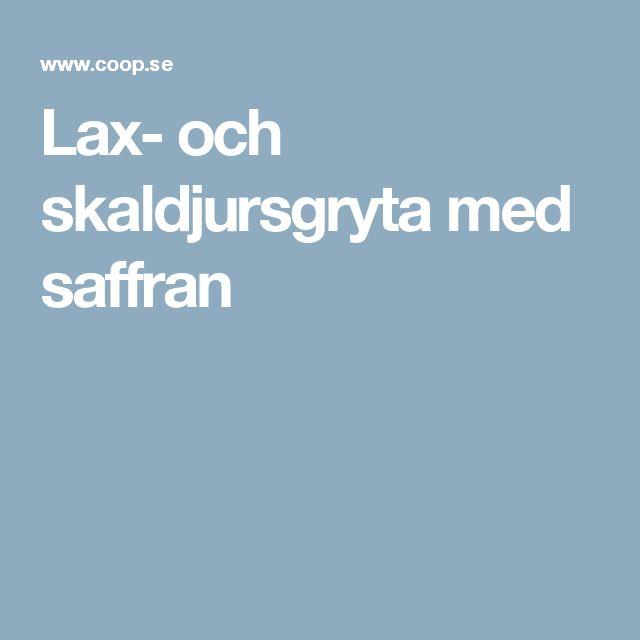 Lax- och skaldjursgryta med saffran