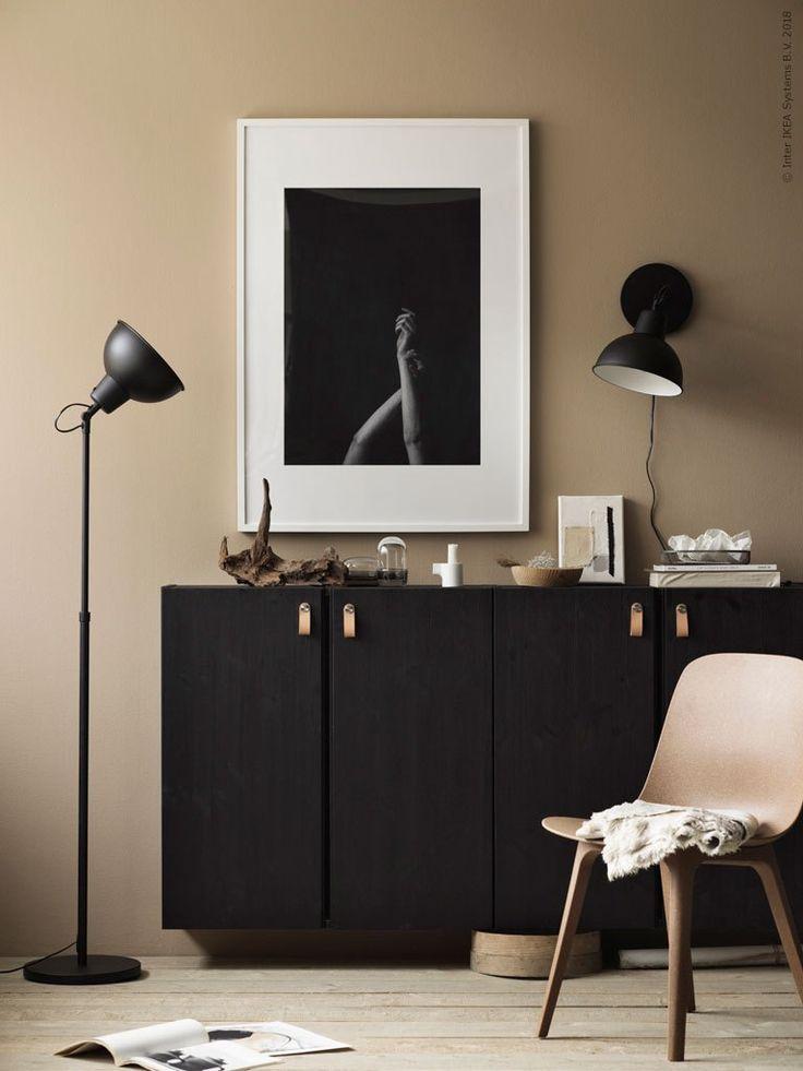 Ikea Ivar Painted Black Via Coco Lapine Design Blog Ikea Living Room Home Interior Design Ikea Inspiration