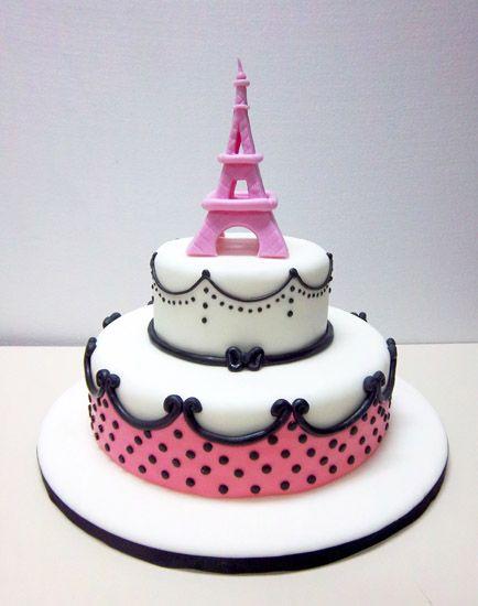 17 mejores ideas sobre tortas de cumplea os de par s en for Tortas decoradas faciles