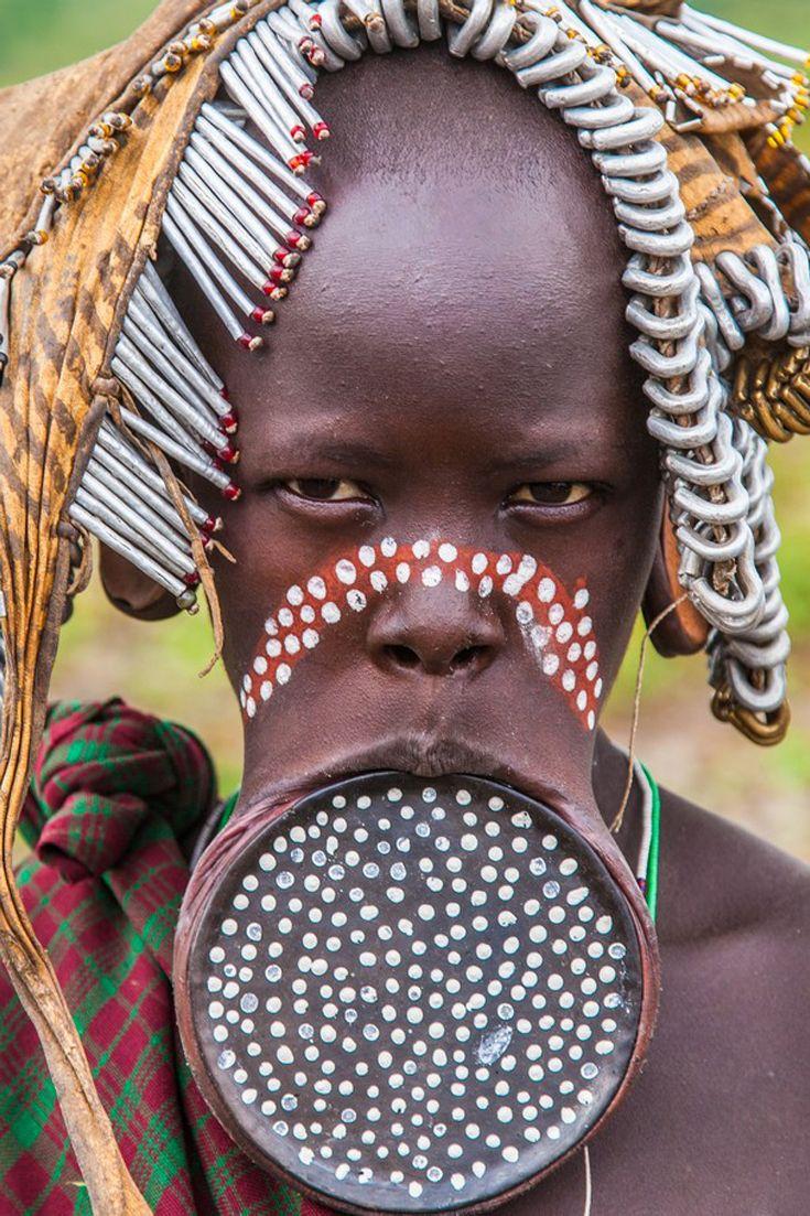 Africa   Mursi woman.  Omo Valley, Ethiopia   ©M Kravchuk     Source; http://www.nat-geo.ru
