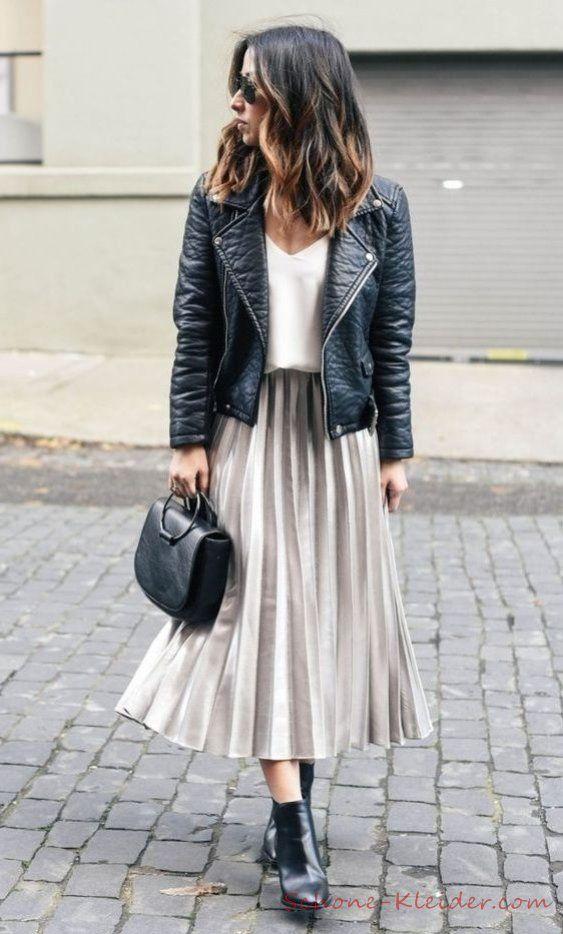 Falda plisada 2019 Tendencias de atuendos de moda femenina   – Fashion