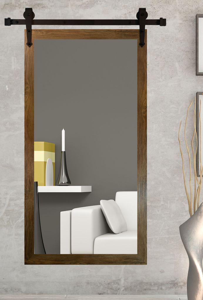 American Made Brown Barnwood Wall Mirror With 3 Barn Door Kit Dv063 3v Suggested Retail Mirror Wall Home Decor Barnwood Wall