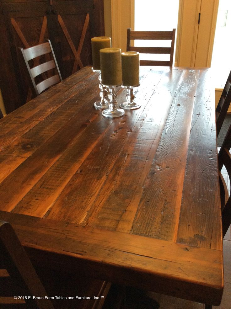 This Medium Character Reclaimed Hemlock Table Shows The Beauty That Can Be  Resurrected In Old Barn