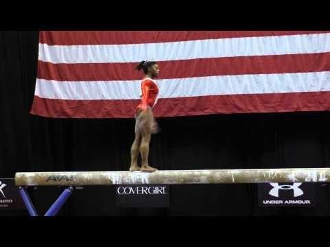 Simone Biles - Balance Beam - 2015 P&G Championships - Sr. Women Day 2 - YouTube