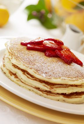 Ricotta Lemon pancakes.  Recipe available on Cheesecake Factory site. Yummy, I made them for breakfast!