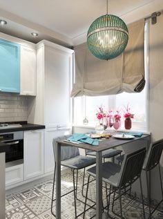 Привлекательный, удобный и функциональный дизайн маленькой кухни