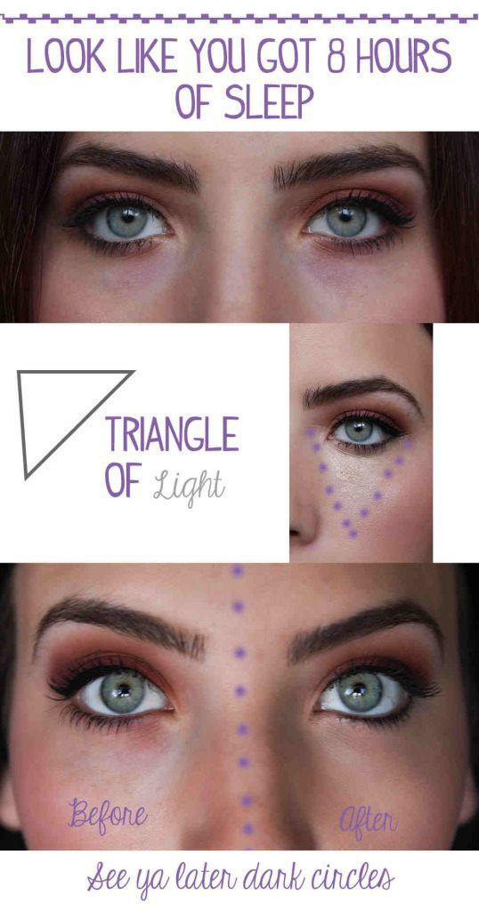 Your Dark Under Eye Circles By Applying Concealer In A Triangle Shape This Even Gives Saggy Bags Lift Easy Beauty Hacks Every Girl Should Know