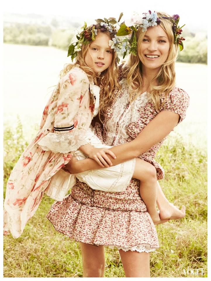 Kate Moss & Daughter